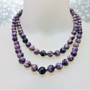 Genuine Beaded Gemstone Statement Necklace